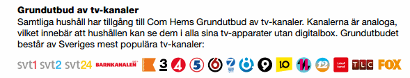grundutbud tv comhem